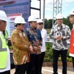 Jokowi Tinjau Pembangunan Ruas Jalan Tol Trans Sumatera di Lampung