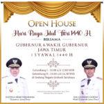 Hari Pertama Lebaran, Gubernur Khofifah Gelar Open House di Grahadi
